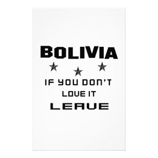 Bolivia If you don't love it, Leave Stationery Design