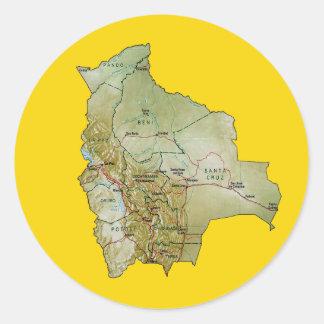 Bolivia Map Sticker