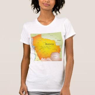 Bolivia Map Womens T-Shirt