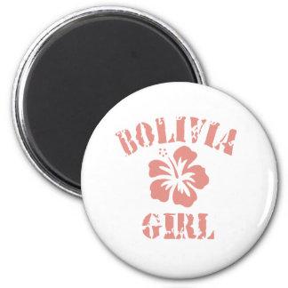 Bolivia Pink Girl Magnet