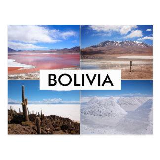 Bolivia Salar de Uyuni collage postcard