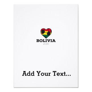 Bolivia Soccer Shirt 2016 11 Cm X 14 Cm Invitation Card