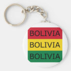 Bolivia Text Square Flag Key Ring