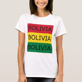 Bolivia Text Square Flag T-Shirt