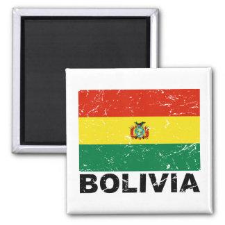Bolivia Vintage Flag Magnet