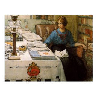 Bolla in the Library Postcard