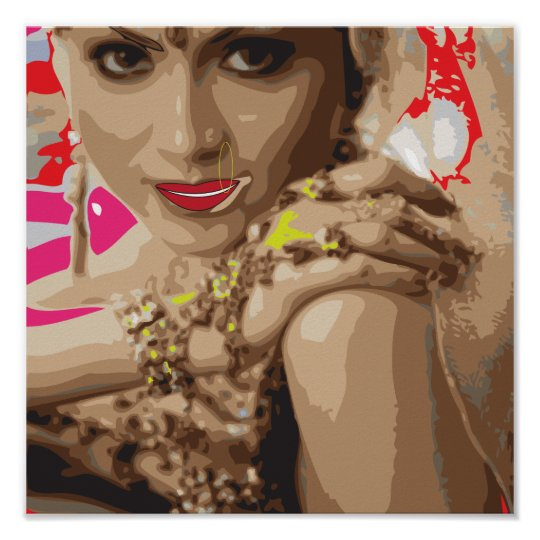 Bollywood art vector Based Poster