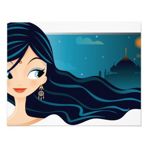 Bollywood Girl Custom Invites
