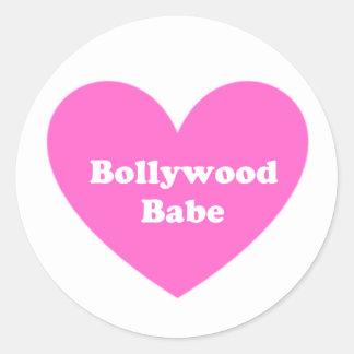 Bollywood Girl Round Sticker