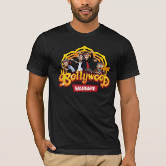 Bollywood Wannabe official black t-shirt