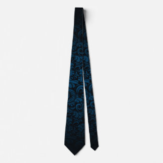 BOLO Blue Gentleman's Royal Silk Swagger Tie