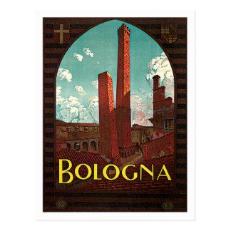 Bologna Bononia Italy Vintage Travel Postcard