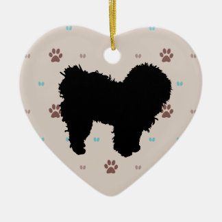 Bolognese Double-Sided Heart Ceramic Christmas Ornament