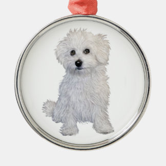 Bolognese Puppy Christmas Ornament