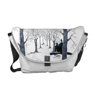 Bolsa floresta misterio bolsas mensageiro