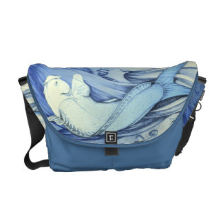 Bolso Pez Azul japonés Courier Bags