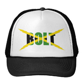 BOLT JAMAICAN FLAG HAT