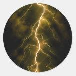Bolt of Lightening Round Sticker