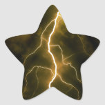 Bolt of Lightening Star Sticker