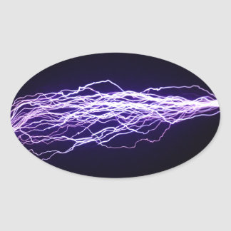 Bolt - Thousands of Volts Oval Sticker