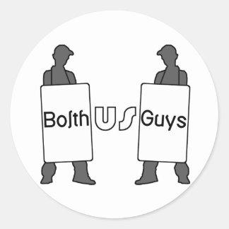 BolthUsGuys Logo Round Sticker
