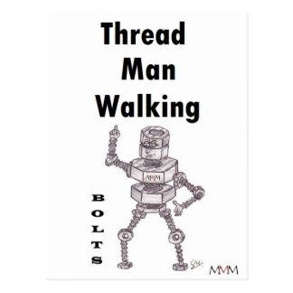 Bolts - Thread Man Walking Postcard