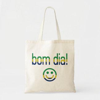 Bom Dia! Brazil Flag Colors Tote Bag