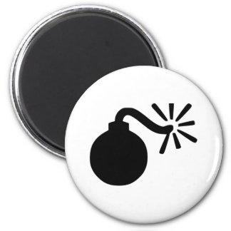 Bomb 6 Cm Round Magnet