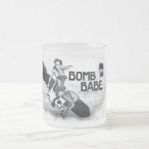 Bomb Babe - Nose Art Coffee Mug