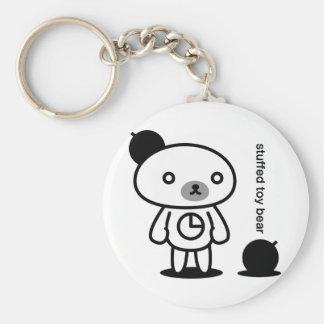 Bomb bear 02 basic round button key ring
