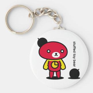 Bomb bear 02/lead-lead basic round button key ring