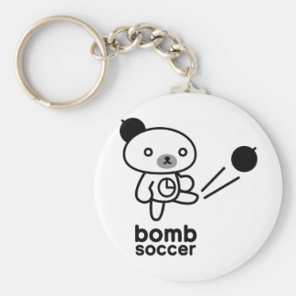 Bomb bear 03 basic round button key ring