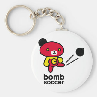 Bomb bear 03/lead-lead basic round button key ring