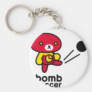 Bomb bear 03/lead-lead basic round button key ring
