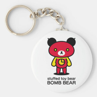 Bomb bear/lead-lead basic round button key ring
