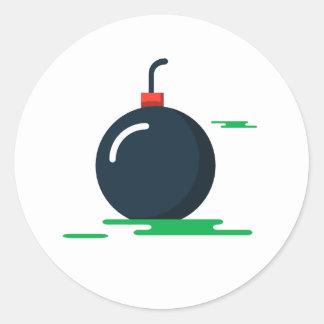 Bomb Classic Round Sticker