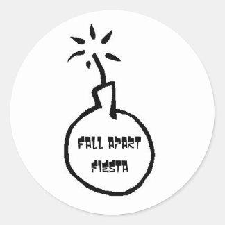 Bomb Round Sticker