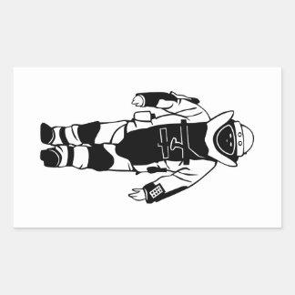Bomb Suit Rectangular Sticker