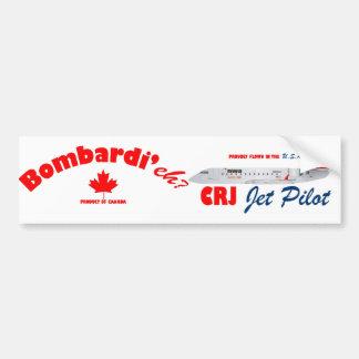 Bombardi'eh CRJ Jet Pilot Bumper Sticker