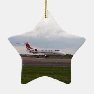 Bombardier Lear Jet 45XR Ceramic Star Decoration