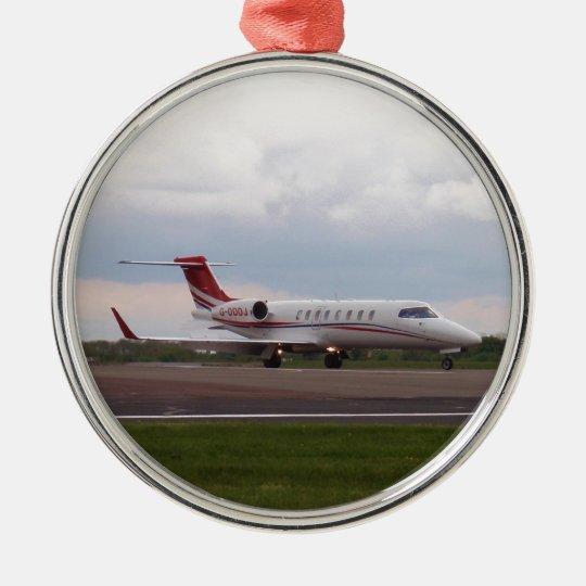 Bombardier Lear Jet 45XR Christmas Ornament