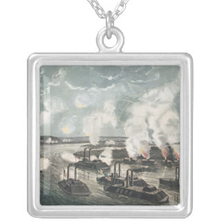 Bombardment and Capture of Island No.10 Silver Plated Necklace