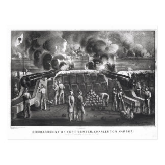 Bombardment of Fort Sumter, Charleston Harbour Postcard