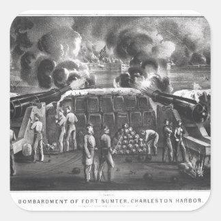 Bombardment of Fort Sumter, Charleston Harbour Square Sticker