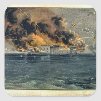 Bombardment of Fort Sumter Square Sticker
