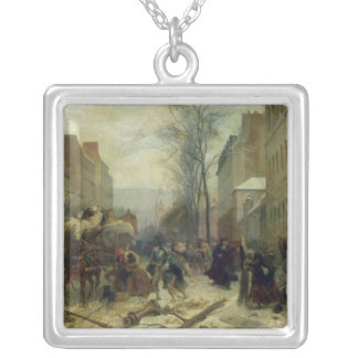 Bombardment of Paris in 1871 Silver Plated Necklace