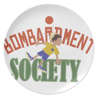 Bombardment Society Dinner Plates