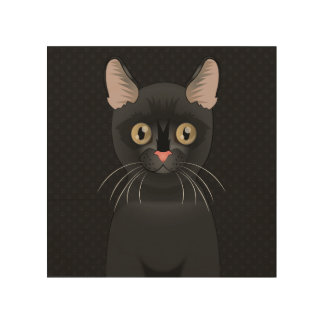 Bombay Cat Cartoon Paws Wood Canvases
