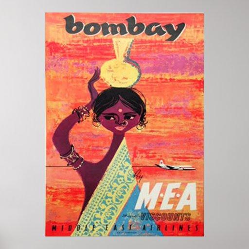 Bombay Vintage Travel Poster