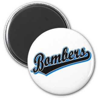Bombers in Black and Blue 6 Cm Round Magnet